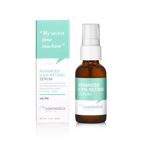 Cosmedica Skincare 2.5% Retinol Facial Serum, 30ml