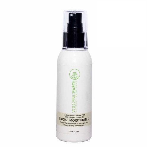 Volcanic Earth Organic Facial Moisturiser with Certified Tamanu Oil, 135ml