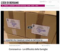 L'Eco di Bergamo Le difficoltà delle famiglie