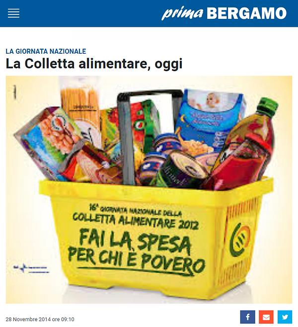 articolo Colletta Alimentare Banco Solidarietàprima Bergamo 2014.png