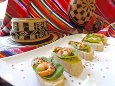 Grilled Shrimp Bruschetta