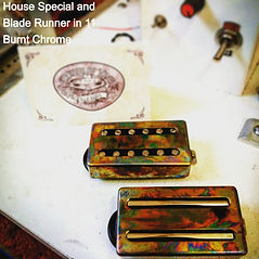 Custom Humbuckers burnt chrome House Of Tone Pickups