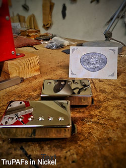 TruPAF PAF humbuckers in nickel House Of Tone Pickups