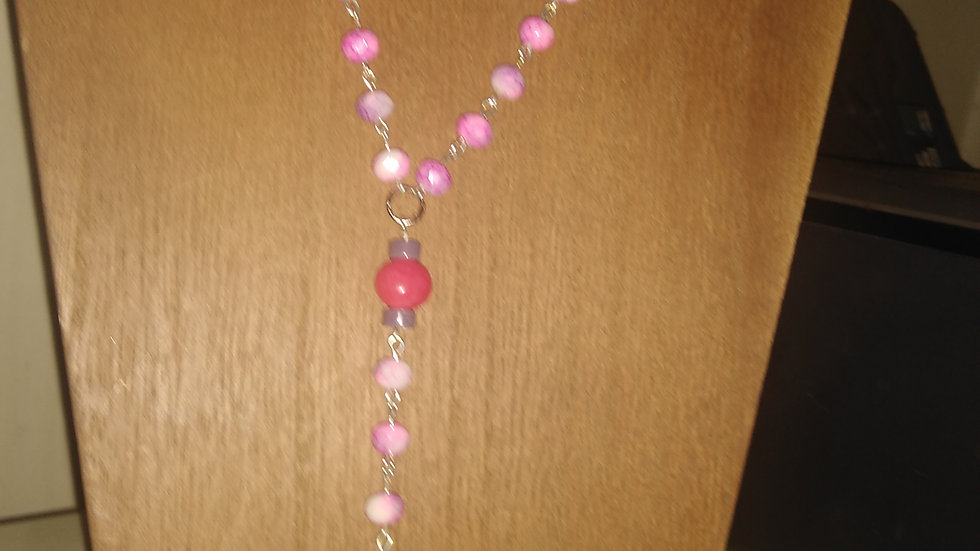 Hand crafted stone beads rosary