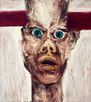 autoportret z poprzeczką