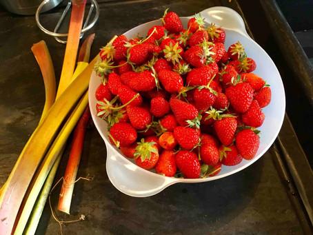 La confiture fraise-rhubarbe du Presbytère