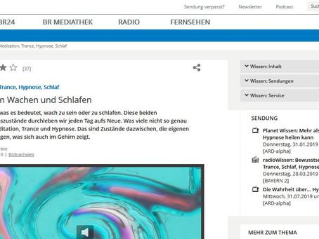 """""""Meditation, Trance, Hypnose, Schlaf Zwischen Wachen und Schlafen"""" Artikel vom Bayerischen"""