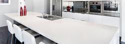 Pia de Cozinha Quartzo Branco Zeus