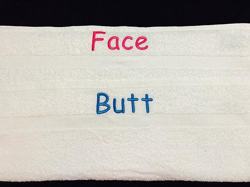Face/Butt Bath Towel