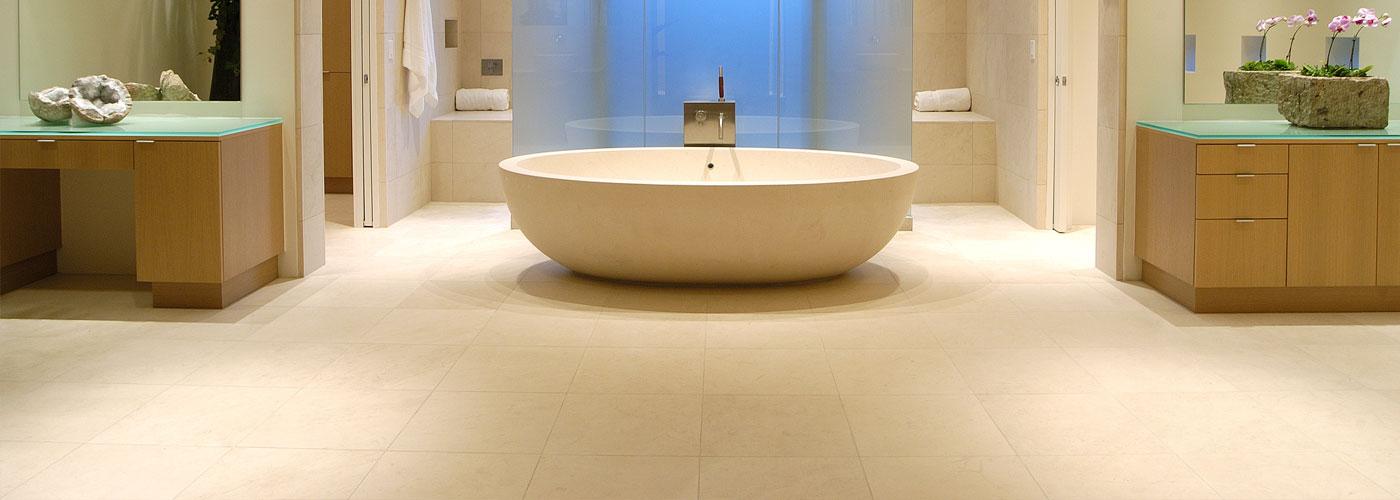 Piso de Banheiro Limestone Mont Doré
