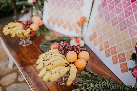 frutas en las bodas