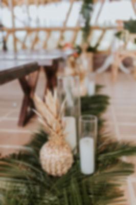 piñas en las bodas