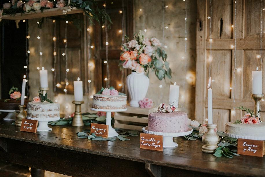 mesa de ponques bodas vintage