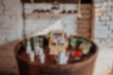 Mesa de café bodas