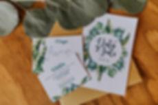 Invitaciones para bodas tropicales
