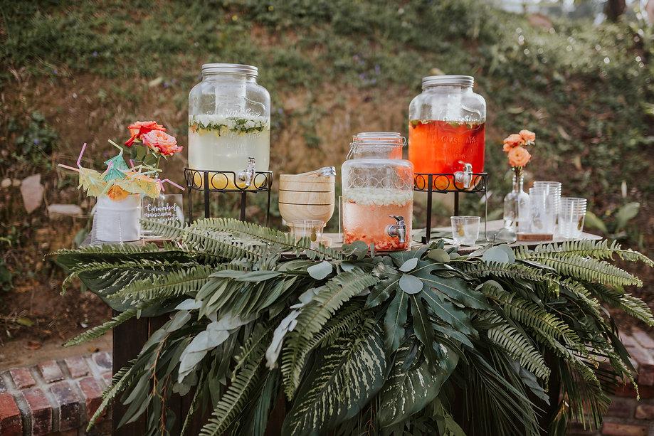 mesa de bebidas bodas