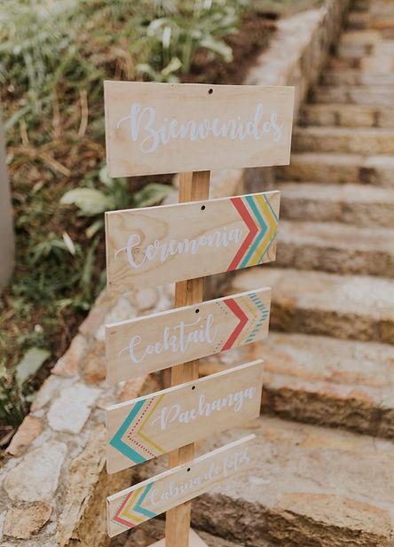 señalización boda