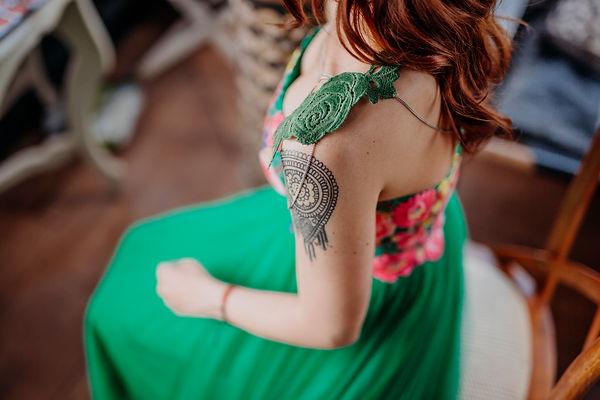 Vestido verde novia
