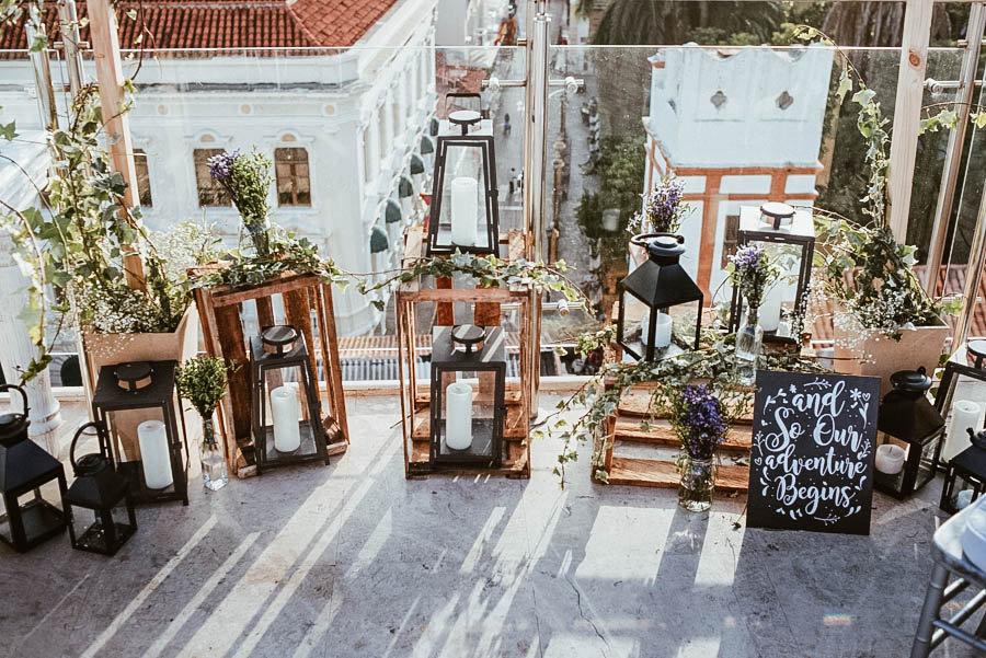 Ceremonia Decoracion hotel movich cartagena boda