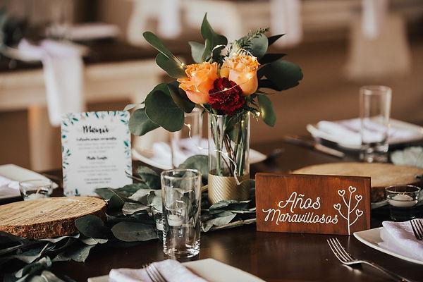 centros de mesa sencillos boda