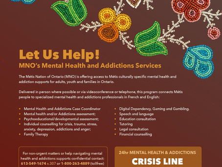 24-Hour Métis Crisis Line is Available!