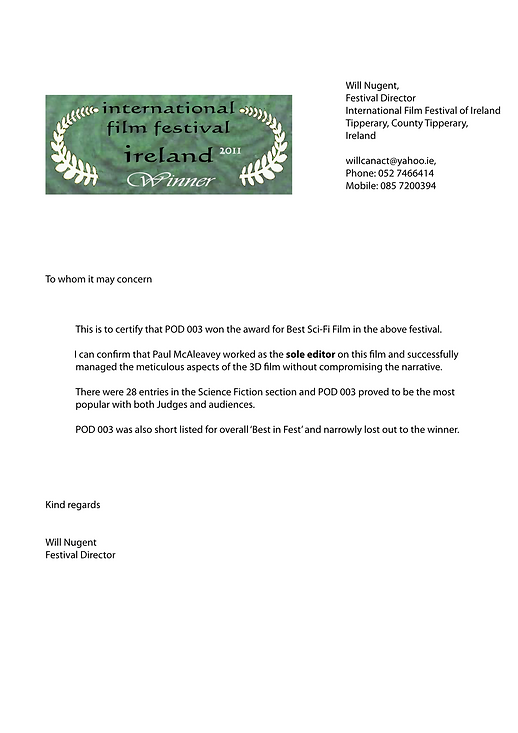 Internatioanl Film Festival of Ireland.p