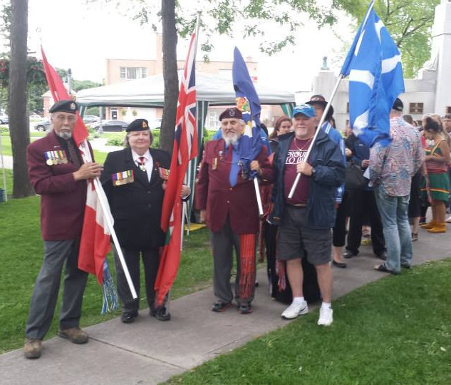 Flag Carrying in Oshawa with Vets