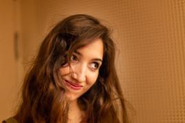 Singer Francesca Gaza at the Jazzcampus Studio