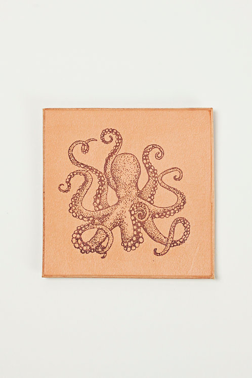 Octopus Leather Coaster