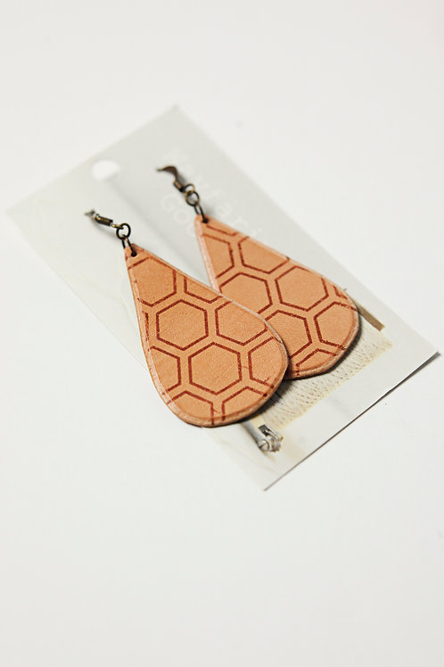 Honeycomb Leather Earrings