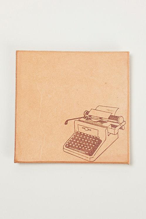 Leather Coaster - Typewriter