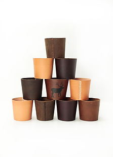 Reusuable Leather Coffee Sleeve, Pint Glass Sleeve