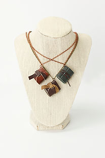 Mini Leather Journal Necklace