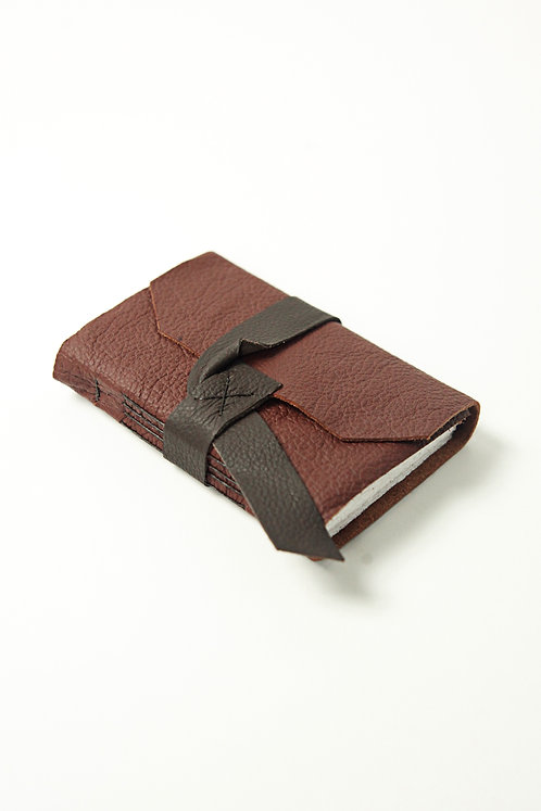 Maroon Leather Travel Journal