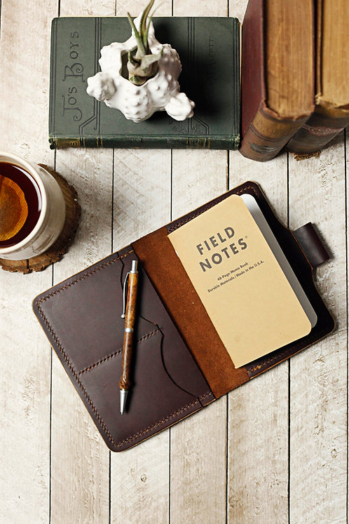Travel Wallet / Refillable Leather Journal / Field Notes Case