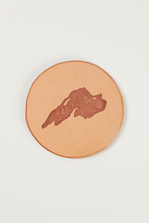 Lake Superior Leather Coaster