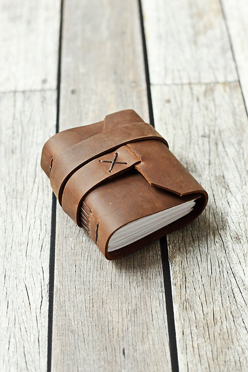 Chunky Leather Journal / Travel Journal
