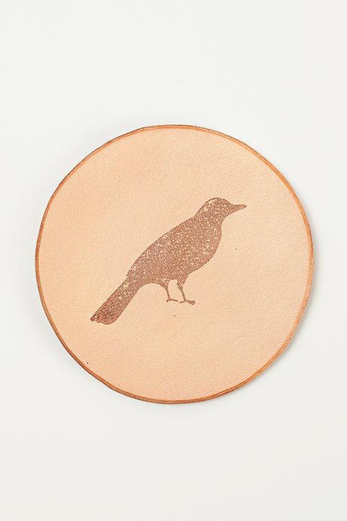 Leather Coaster - Bird