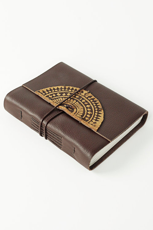 Leather Journal with Mandala Design
