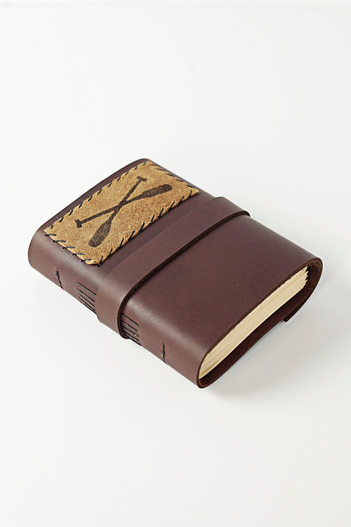 Canoe Paddle Leather Journal