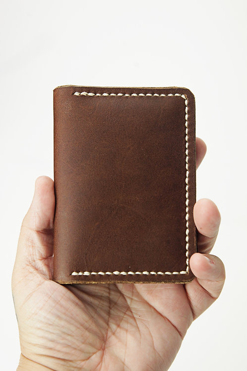 Leather Two Pocket Minimalist Wallet