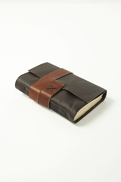 Dark Brown Leather Travel Journal