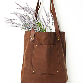 Leather Tote Bag.