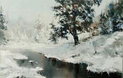 Отражение.Зима 2017 Х.М. 50x70