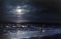 Влюблённая пара у моря 2016 Х.М. 50x70