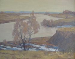 4 Калинников А.В. 1951г Весна пришла к.м. 55х64,5 2009(1).jpg