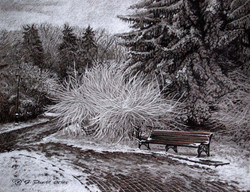 Зима. Парк. г. Пятигорск-пастель 50х60 2015 г..jpg