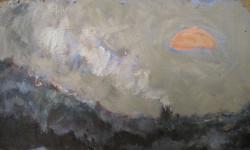 Розовое солнце (орг., м., 2014, 36,5х21,5)