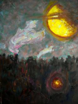 До луны недалеко ( орг., м., 2013, 55х70)