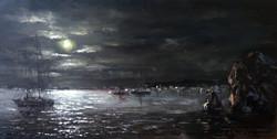Ночь на море 2015 Х.М. 50x90
